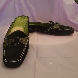 Black Suede Mules by Cole Haan